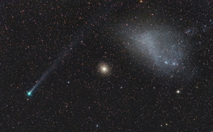 Comet Lemmon, GC NGC104 & the SMC, and Time-lapse video