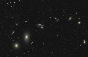 Markarian's Chain of Galaxies in Virgo