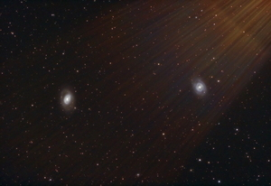 Mars Pride (Galaxies M95 & 96, overshadowed by Mars light)
