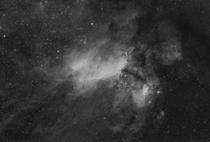 Prawn Nebula (IC 4628) in H-alpha light