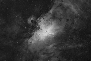 Eagle Nebula (Messier 16) in H-alpha light